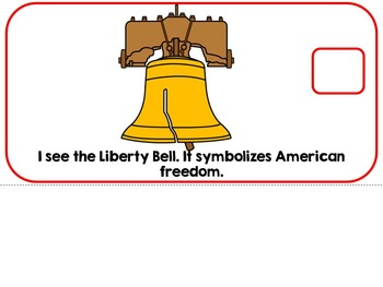 American Symbols USA Adapted Interactive Book Special Education, Autism, SLP