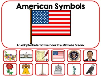 American Symbols USA Adapted Interactive Book Special Educ