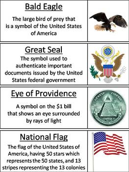 American Symbols Word Wall Cards
