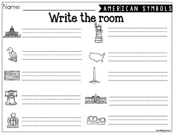 American Symbols Write the Room