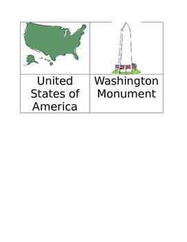 American Symbols Write the Room Activity