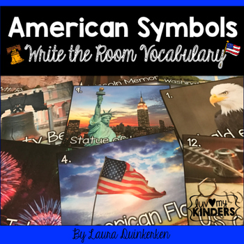 American Symbols Write the Room Vocabulary