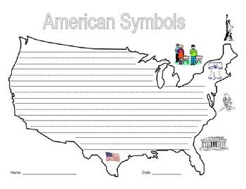 American Symbols Writing Activity