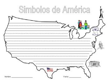 American Symbols Writing Activity-Spanish