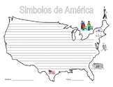 American Symbols Writing Activities & Flag - Spanish