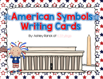 American Symbols Writing Center Cards