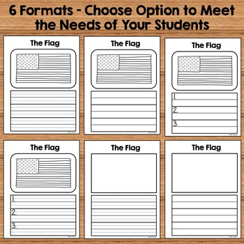 American Symbols Writing Templates for Kindergarten and 1st Grade