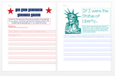 American Symbols Writing Worksheets/Activities