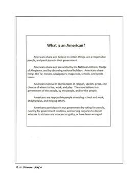 American Symbols abbreviated version