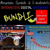 American Symbols & Landmarks Interactive DIGITAL Notebook BUNDLE Google Drive®