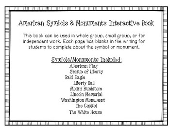 American Symbols and Monuements