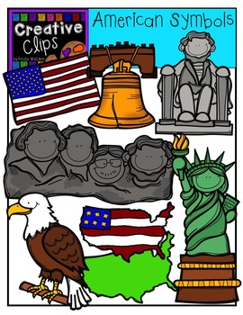 American Symbols and Monuments {Creative Clips Digital Clipart}