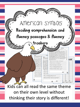 American Symbols fluency and comprehension leveled passage