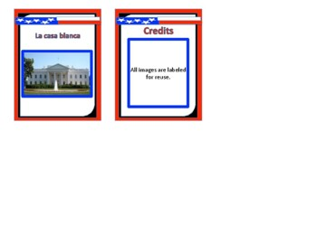 American Symbols posters and cards in SPANISH!