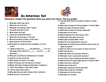 American Tail Question
