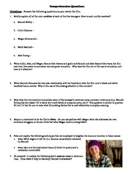American Teen Film (2008) Study Guide Movie Packet