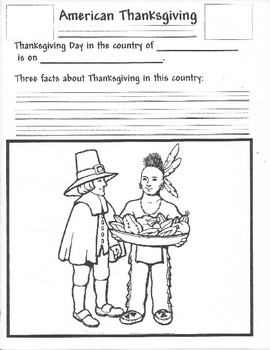 American Thanksgiving Activity