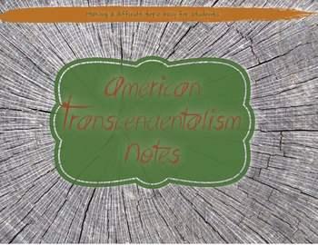 American Transcendentalism Notes