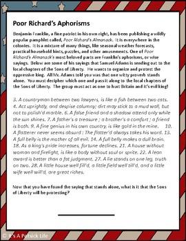 American Revolution Escape Room - US History - Social Studies (Sons of Liberty)