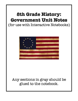 United States Government Unit Interactive Notebook Foldable Files