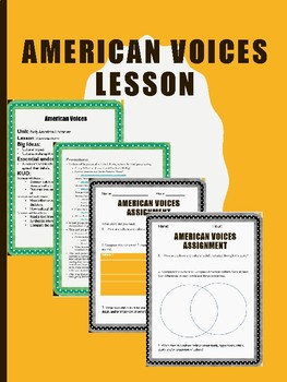 American Voices Lesson and Assignment