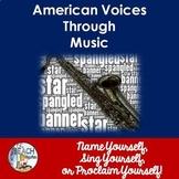 Literary Analysis & Close Reading:  Reflections of America Through Music
