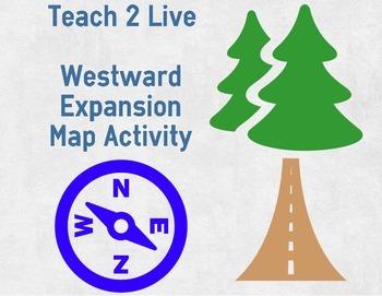 American Westward Expansion Pioneer: Map Activity