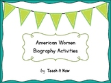 American Women Biography Packet