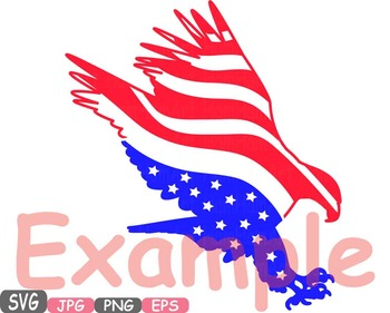 American flag Eagle Eagles independence day 4th of July Clipart birds USA -473s