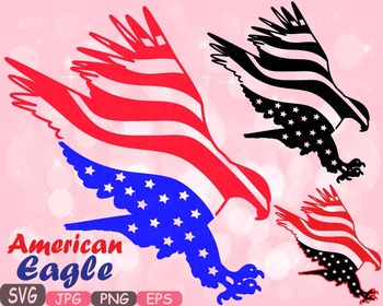 American flag Eagle Eagles independence day 4th of July Cl
