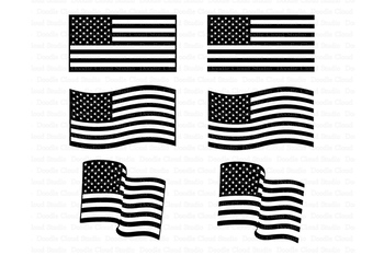 American Flag Svg Distressed Usa Flag Svg Files By Doodle Cloud Studio