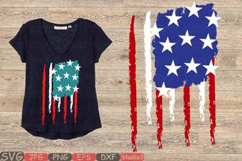 American flag svg Distressed American Flag svg USA Flag svg 4th of July 107sv