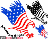 American flag svg Eagle Eagles independence day 4th of July Clipart birds -472s