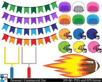 American football Digital ClipArt Personal, Commercial Use 39 images cod103