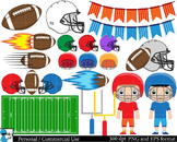 American football Digital ClipArt Personal, Commercial Use