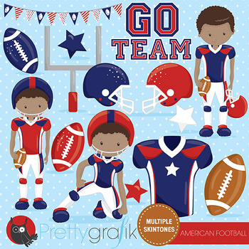 American football clipart commercial use, vector graphics, digital  - CL1007