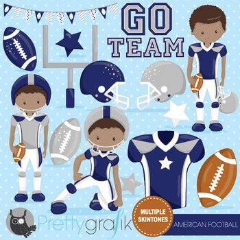 American football clipart commercial use, vector graphics, digital  - CL1008