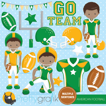 American football clipart commercial use, vector graphics, digital  - CL1010