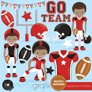 American football clipart commercial use, vector graphics, digital  - CL1011