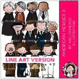 American heroes clip art Part 3 - LINE ART- by Melonheadz