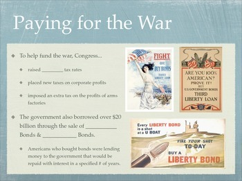America in WWI Student Handout