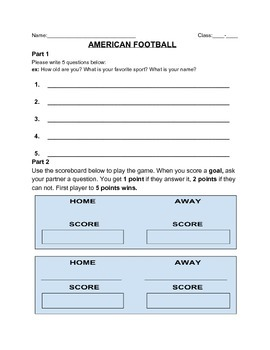 American (paper) Football