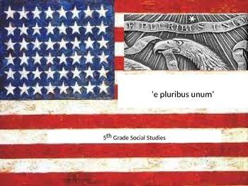 """American symbolism """"E Pluribus Unum"""" Power Point"""