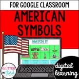 Google Classroom Distance Learning American symbols