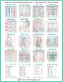 American versus Mexican Holidays 16 Worksheet- 4 Exam Bundle