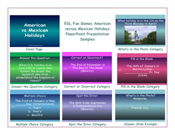 American versus Mexican Holidays PowerPoint Presentation