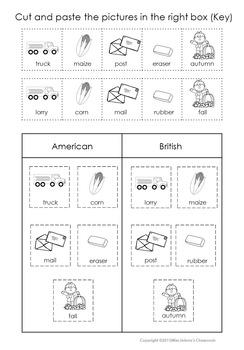 American vs. British Sorting Set