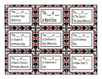 American vs Mexican Holidays Cards