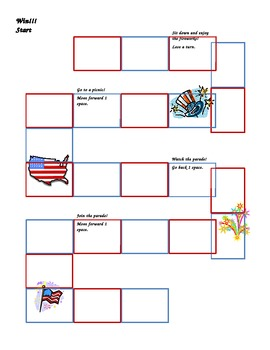 American/Patriotic Game Board