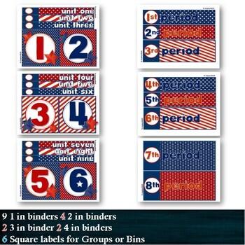 Americana -- 3-drawer Organizer Box Labels